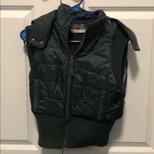 Free people shearling lined vest. Emerald green.